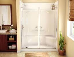kohler one piece tub shower one piece shower units for modern bath for bathroom above the