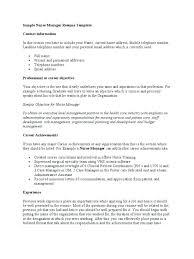 Sample Nurse Manager Resumes Assistant Nurse Manager Resume Objective Nursing Sample