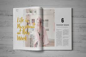 Indesign Magazine Templates Indesign Magazine Template By Fahmie Rahman Thehungryjpeg Com