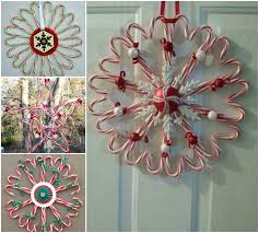 DIY Christmas Candy Cane Wreath  BeesDIYcomCandy Cane Wreath Christmas Craft