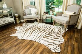 Zebra Rug Living Room Living Room Interesting Plush Brown And White Faux Zebra Skin