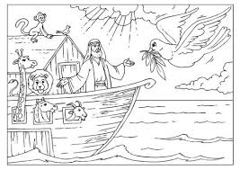 It develops fine motor skills, thinking, and fantasy. Coloring Page Noah S Ark Img 25955 Bible Coloring Pages Sunday School Coloring Pages Bible Coloring