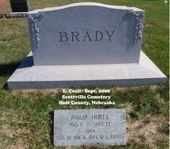 BRADY, PHILIP JAMES - Holt County, Nebraska | PHILIP JAMES BRADY - Nebraska  Gravestone Photos