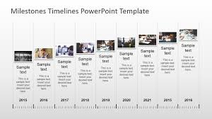 Timeline Milestones Milestones Timeline Powerpoint Template Slidemodel