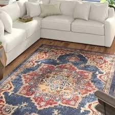 blue rust red area rug chemical free rugs wool hand knotted off grey