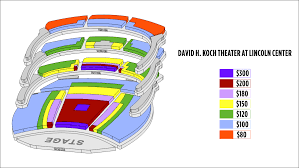 New York The David H Koch Theater Seating Chart At Lincoln