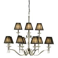 viore design stanford 12 light nickel chandelier black