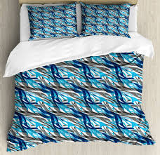 abstract duvet set with pillow modern art stripes print shams cover nudvef607 bedding sets duvet covers