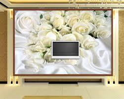 Beibehang Custom Grote Fresco 3d Muur Papier Witte Zijde Rozen Foto