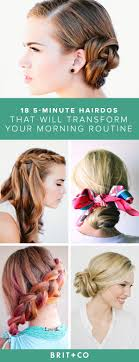 5 Minute Hairstyles For Girls Pictures On 5 Minute Hairstyles Hairstyles For Men