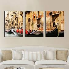 3 panel wall art painting on canvas oil painting famous painting collection for living room venice scenery picture print home decorations venice scenery