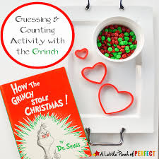 How the Grinch Stole Christmas: Guess & Count Math Activity for ...