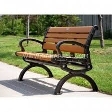 Brooklyn Recycled Plastic Outdoor Bench With Arched Frames Outdoor Benches