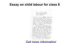 essay on child labour for class google docs