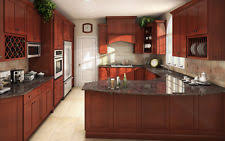 All Solid Wood Kitchen Cabinets 10x10 FULLY ASSEMBLED Shaker Brandy Birch