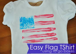 Making Own Tshirts Easy Make Your Own Flag Tshirts Clumsy Crafter