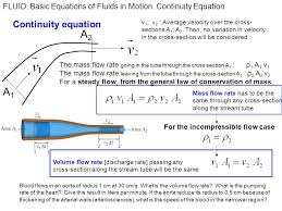 a2 a1 continuity equation