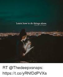 Alone Quotes Gorgeous Learn How To Do Things Alone Quotes Nd Notes RT TcoyRNfDdPVXa