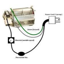 wiring diagram fan light source at the fixture electrical fireplace blower kit wiring diagram