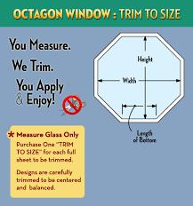 octagon window trim to size service