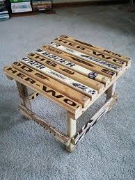 Hockey Stick Side Table Cheap Man Cave Ideas