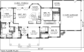 ranch house plan 73152 level one home floor plans