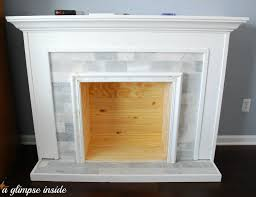 Tile Fireplace Makeover A Glimpse Inside Faux Fireplace Makeover