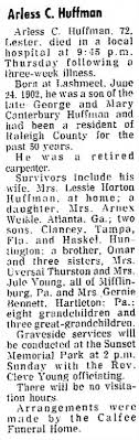 Arless Curdy Huffman (1902-1975) - Find A Grave Memorial