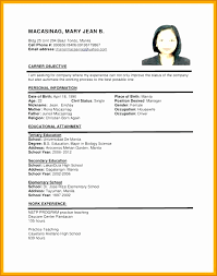 6 Sample Of Cv For Job Application Besttemplates Besttemplates