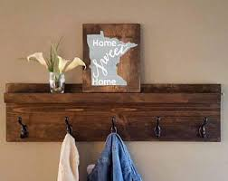 Wooden Wall Coat Rack Hooks Coat Rack Shelf Etsy 20