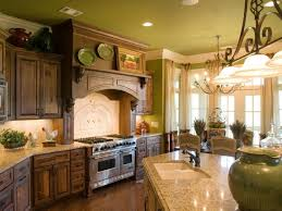 kitchen french country decorations double door glass cabinets lighting ideas pictures folding table top green color