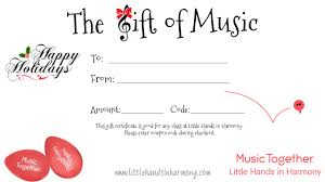 Holiday Gift Certificates Little Hands In Harmony Holiday Gift Certificate