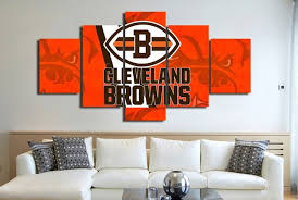 5 panels cleveland browns sports team logo oil on canvas photo prints liveing modern home room on cleveland browns canvas wall art with 5 panels cleveland browns sports team logo oil on canvas photo