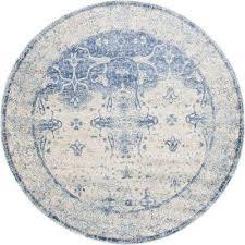 asheville navy blue 8 x 8 round rug