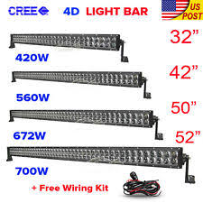 ford f53 xenon lights 4d cree 32inch 42 50 52 inch 4 18w led work light bar offroad driving atv 4wd fits ford f53