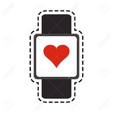 Portable Heart Rate Monitor Icon Image Vector Illustration Design
