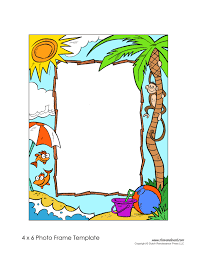 printable photo frame template free picture