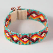 this carlsbad bead loom cuff bracelet was inspired by the beautiful native american patterns i see