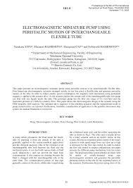 (PDF) <b>ELECTROMAGNETIC MINIATURE PUMP</b> USING ...