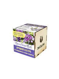Подарочный набор для выращивания в древесном кубике ...