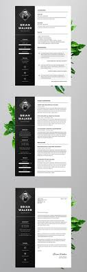 Free Resume Template For Word Photoshop Illustrator On Pantone