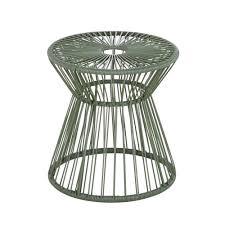 garden side table in khaki resin and