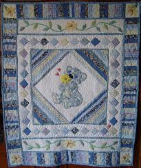 Little Boy Applique Designs Patchwork And Applique Design In Blue For A Little Boy