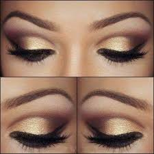 images of eye makeup for black and gold dress