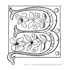 Illuminated Letters Coloring Pages Printable Illuminated Letters