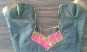 Double Colour Blouse Back Neck Designs 55 Trendy Blouse Back Neck Designs With Borders For Sarees