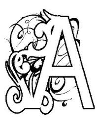 Illuminated Alphabet Coloring Pages Color Bros