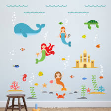 mermaid wall decals mermaids decals mermaid wall decal