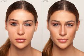 makeup tutorial before and after of contouring