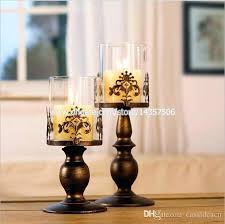white candles in glass inch medium vintage iron candle holder w glass shade black white wedding white candles in glass